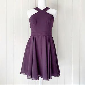 Lulu's Forevermore Purple Skater Dress Medium